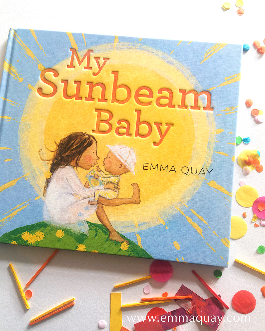 MY SUNBEAM BABY by Emma Quay (ABC Books) | Making paper plate suns: a book-related craft activity for Book Week www.emmaquay.com