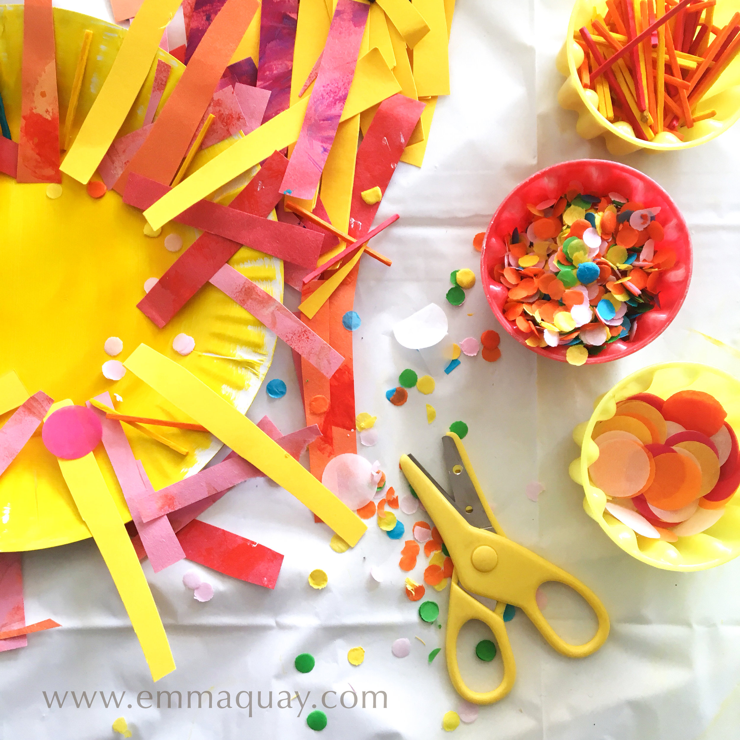 Making a paper plate sun: a book-related activity for Book Week | MY SUNBEAM BABY by Emma Quay (ABC Books) www.emmaquay.com