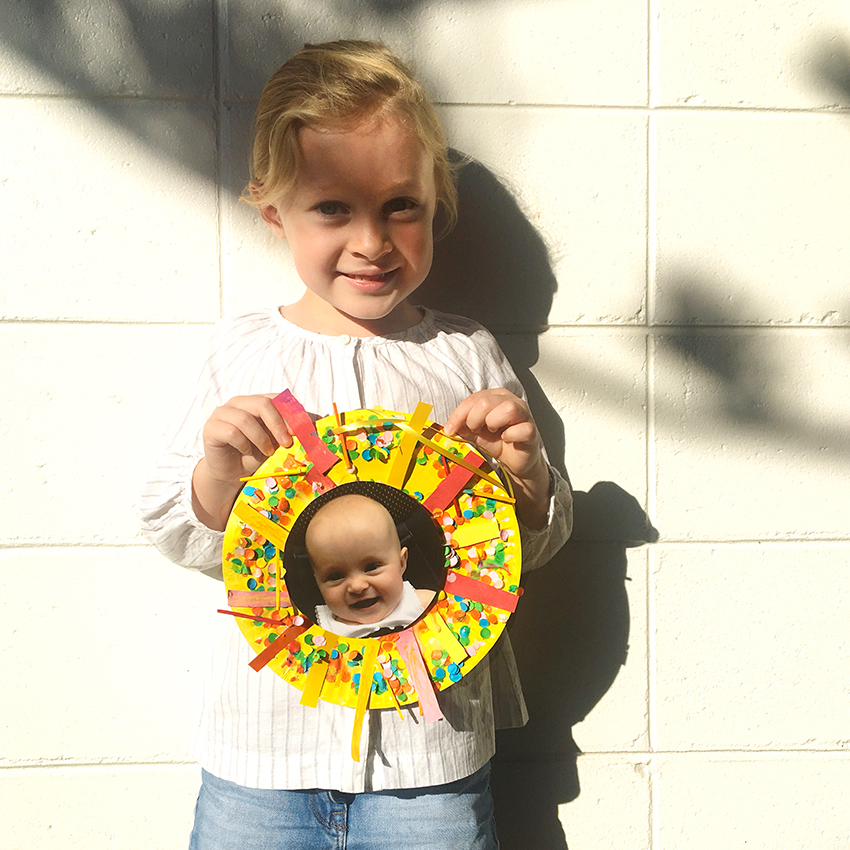 Paper plates craft activity | MY SUNBEAM BABY by Emma Quay | Instructions for a book-related activity for Book Week | www.emmaquay.com
