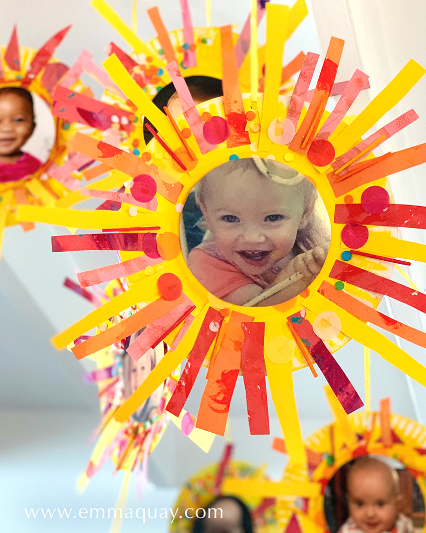Paper plate sunbeam babies - a craft activity for Book Week, based on MY SUNBEAM BABY by Emma Quay (ABC Books) - www.emmaquay.com