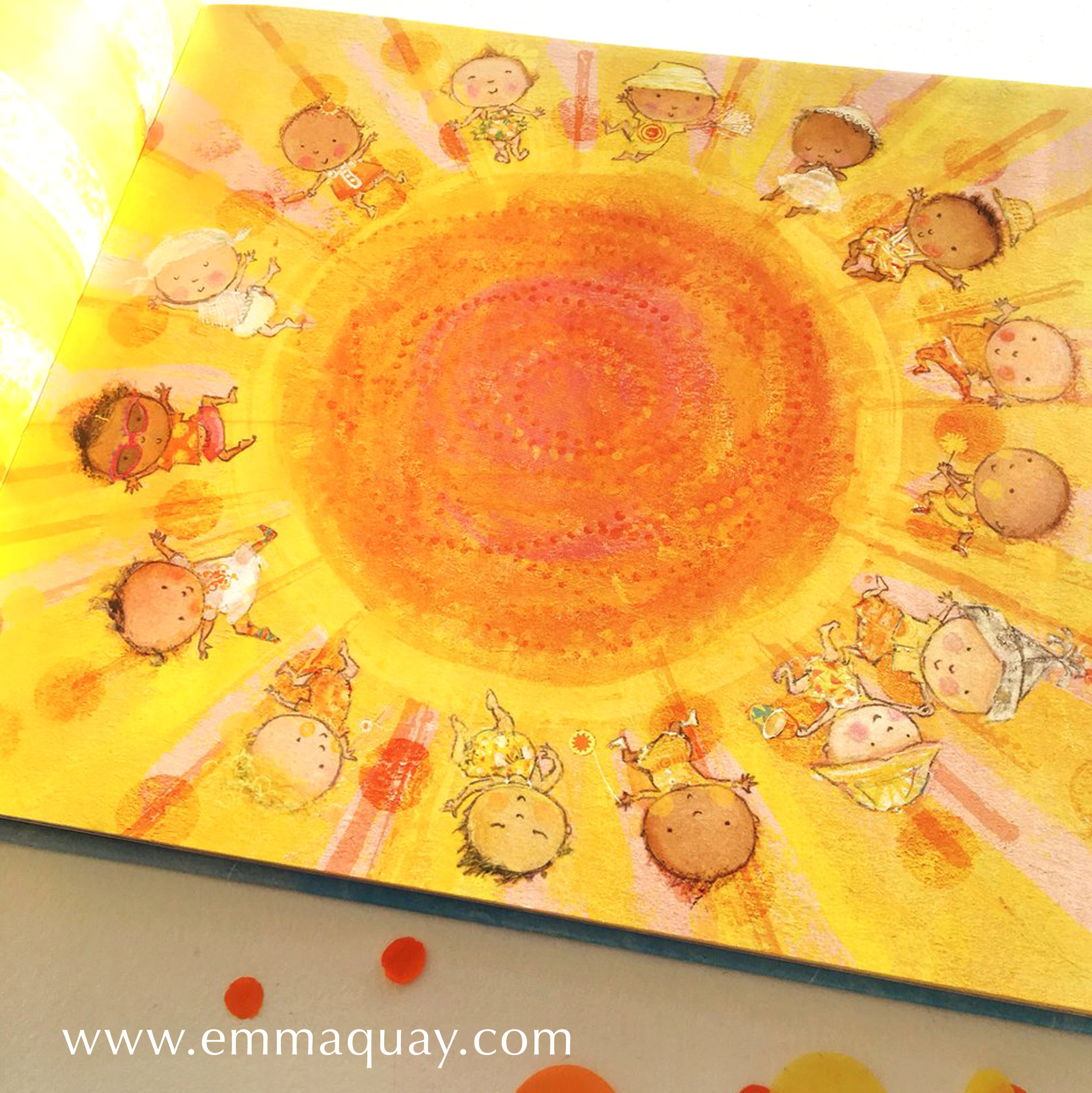 """If babies were sunbeams, shining round the sun..."" illustration by Emma Quay from   My Sunbeam Baby"