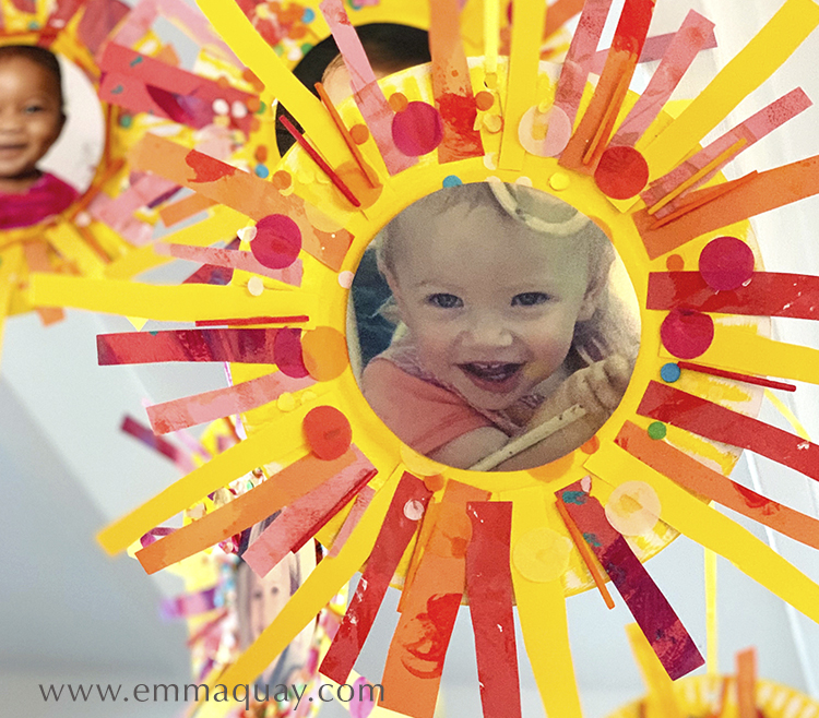 Paper plate sunbeam babies craft activity - ON THE NEWS PAGE