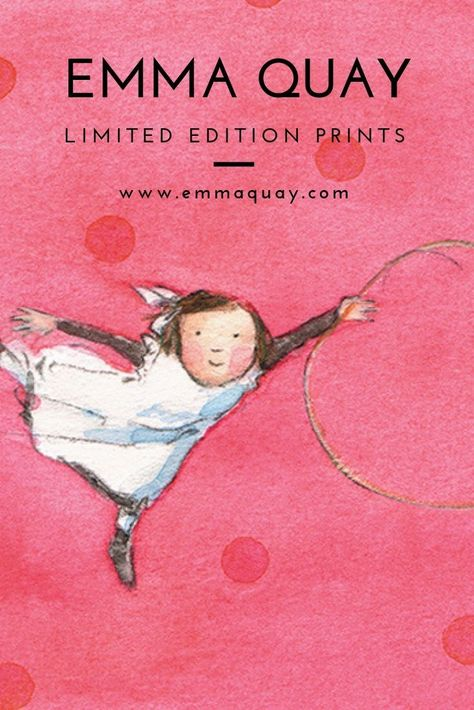 HOOP by Emma Quay, limited edition print from an original watercolour - www.emmaquay.com