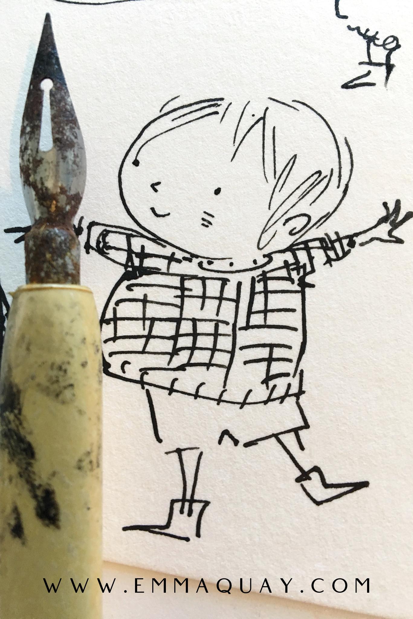 His nibs, in pen and ink #emmaquaysketchbook