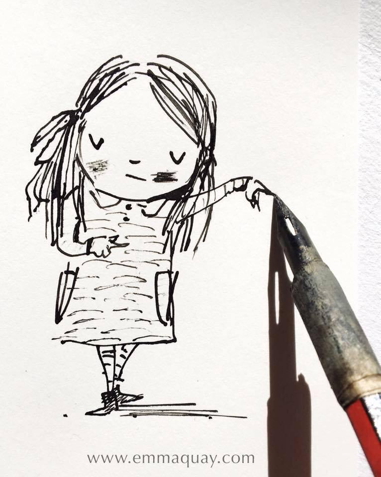 My dip pen #emmaquaysketchbook