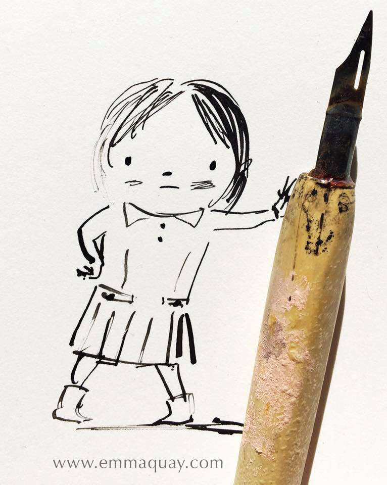 Ink girl and her pen #emmaquaysketchbook