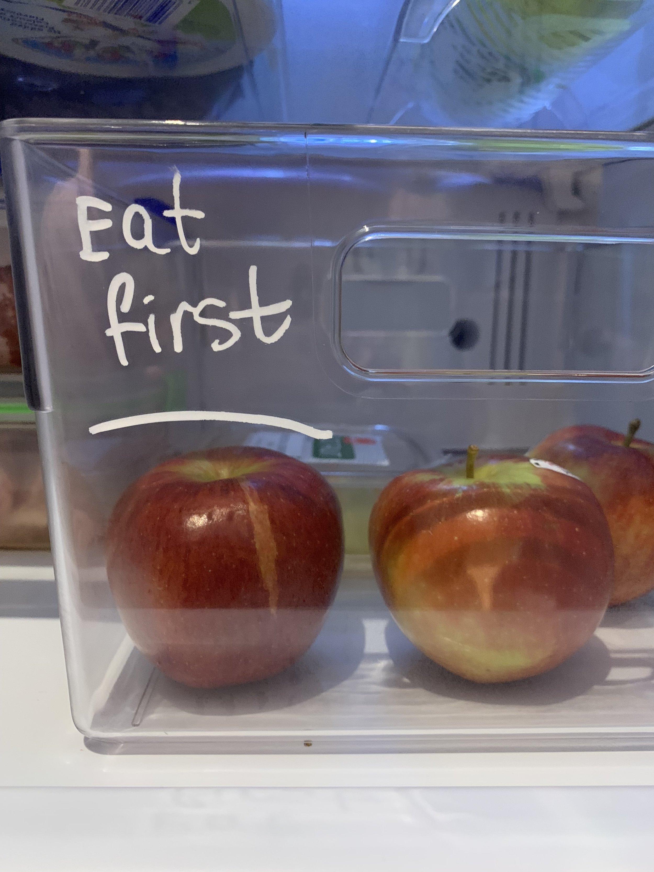 """Large """"eat me first"""" (EMF) basket"""
