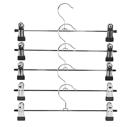 Metal hangers - Use for trousers, jeans, skirts, dressy shorts.