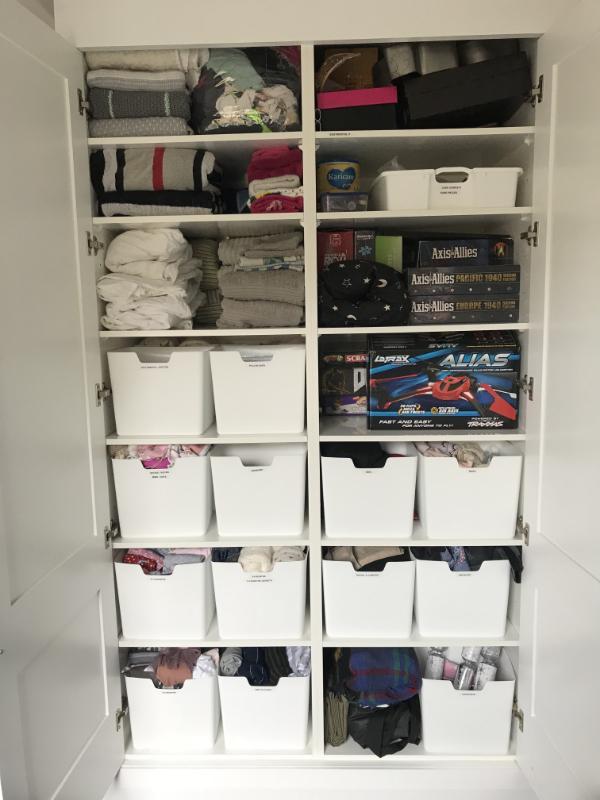 Storage cupboard - after