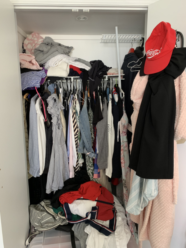 Her wardrobe - before
