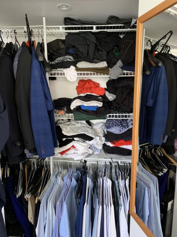 His wardrobe - before