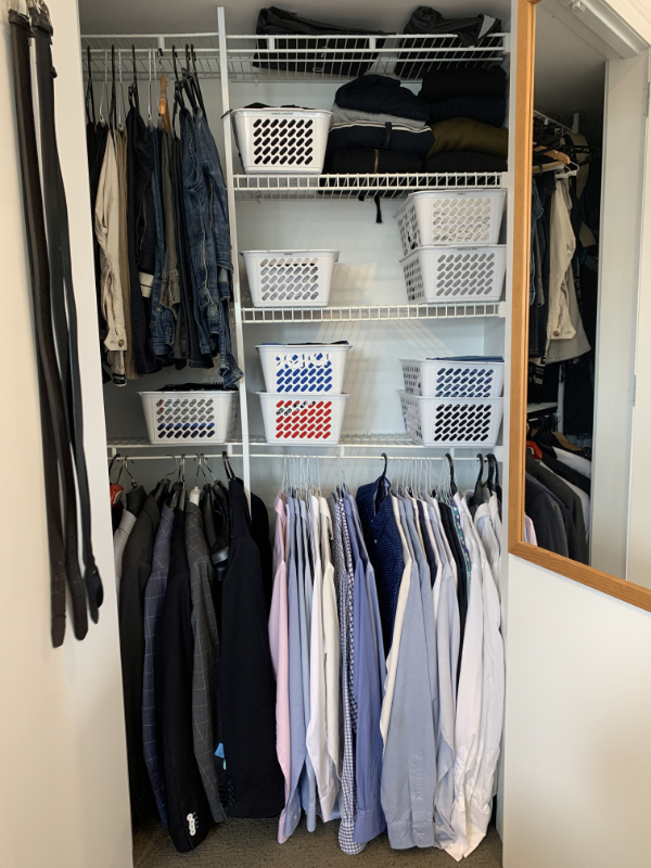 His wardrobe - after