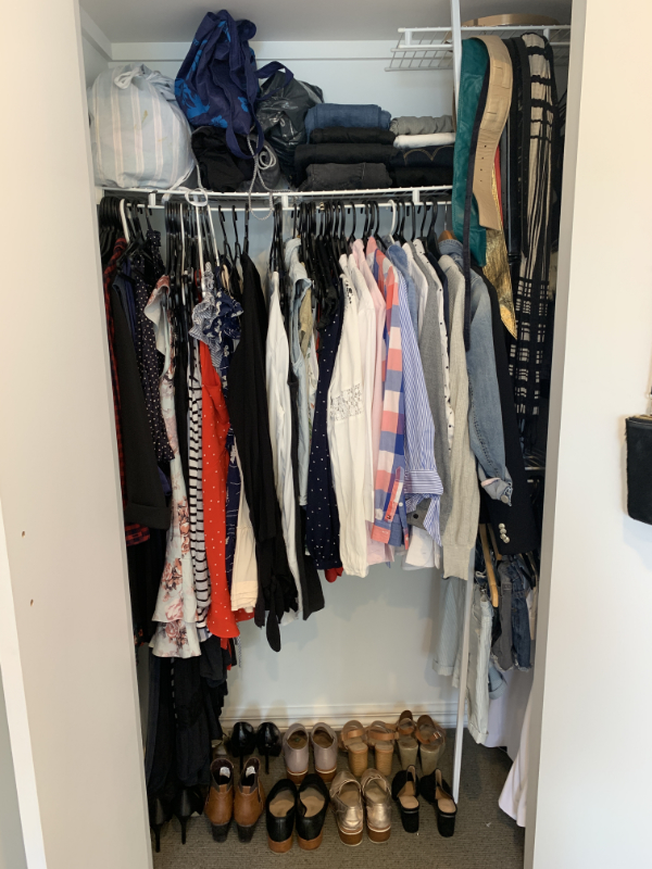 Her wardrobe - after