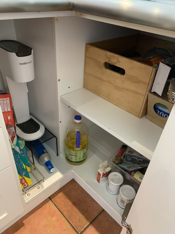 Utility cupboard - after