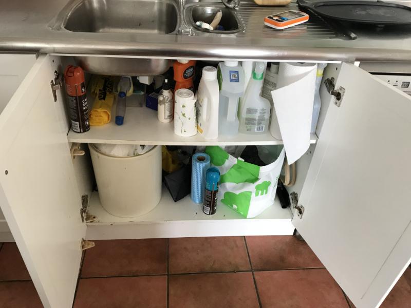 Under sink - before