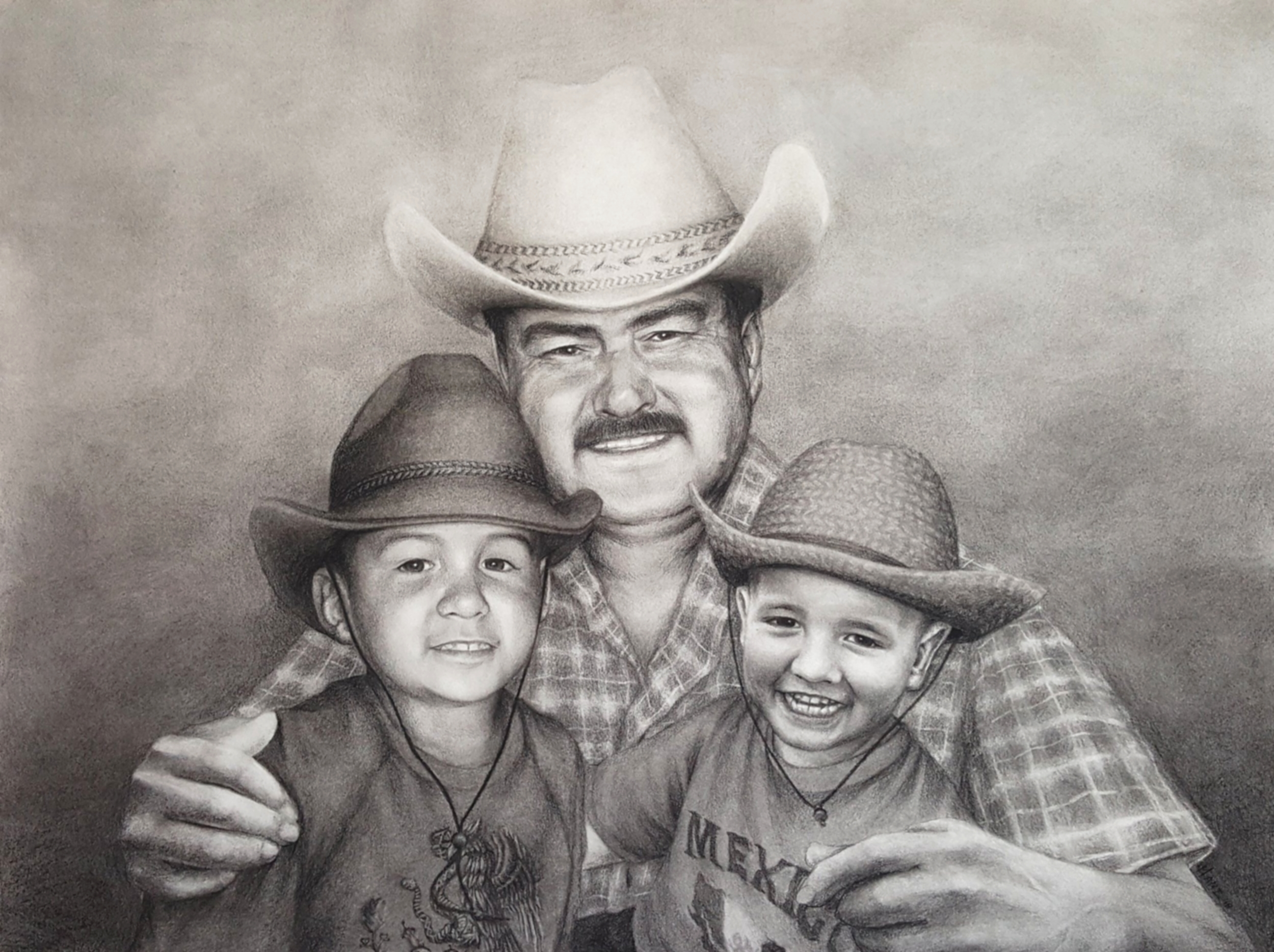 Copy of Abuelo Javier, Joey & Benjamin