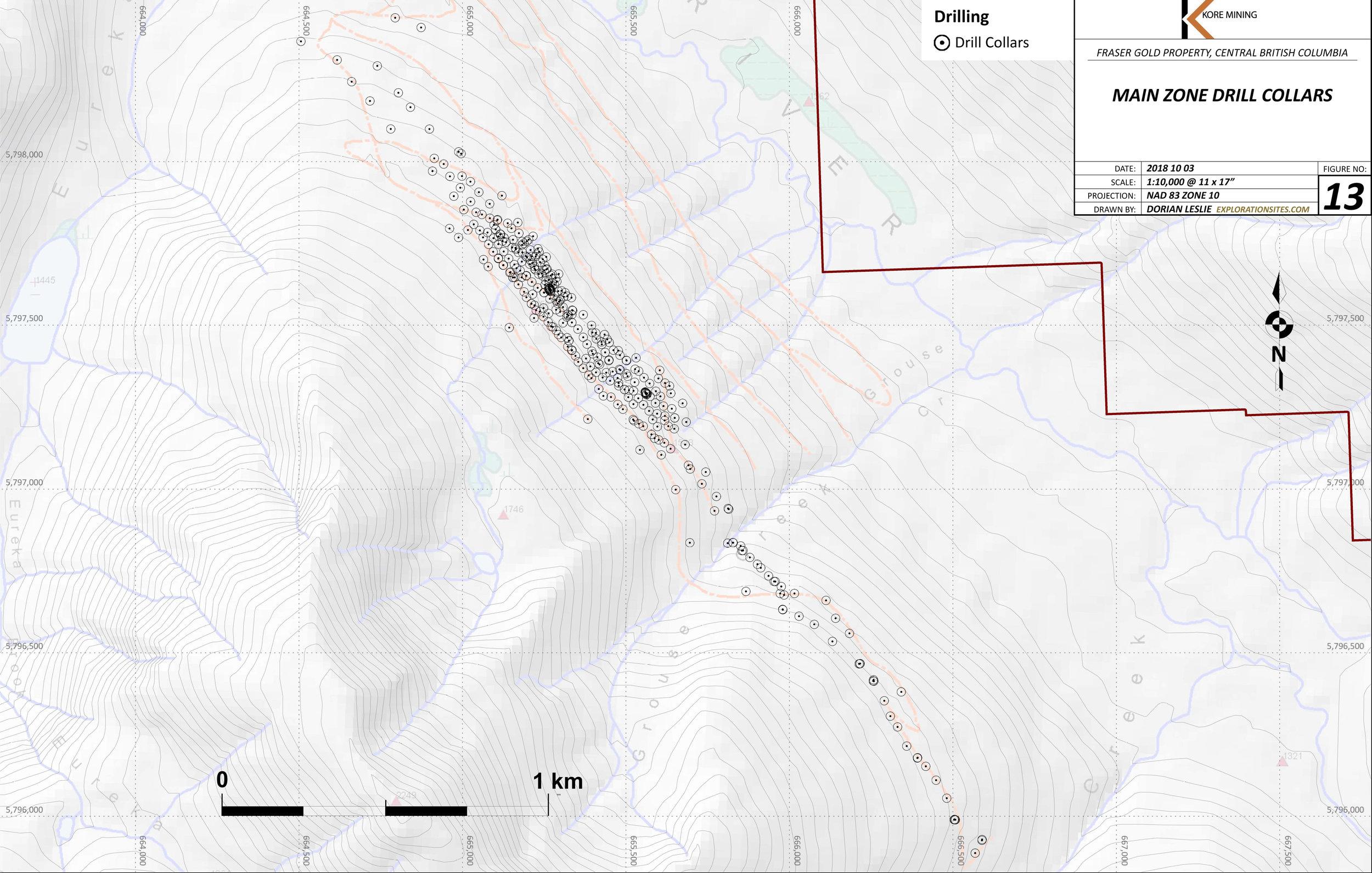 Historic Drilling 1983-1993, 2007-2008.