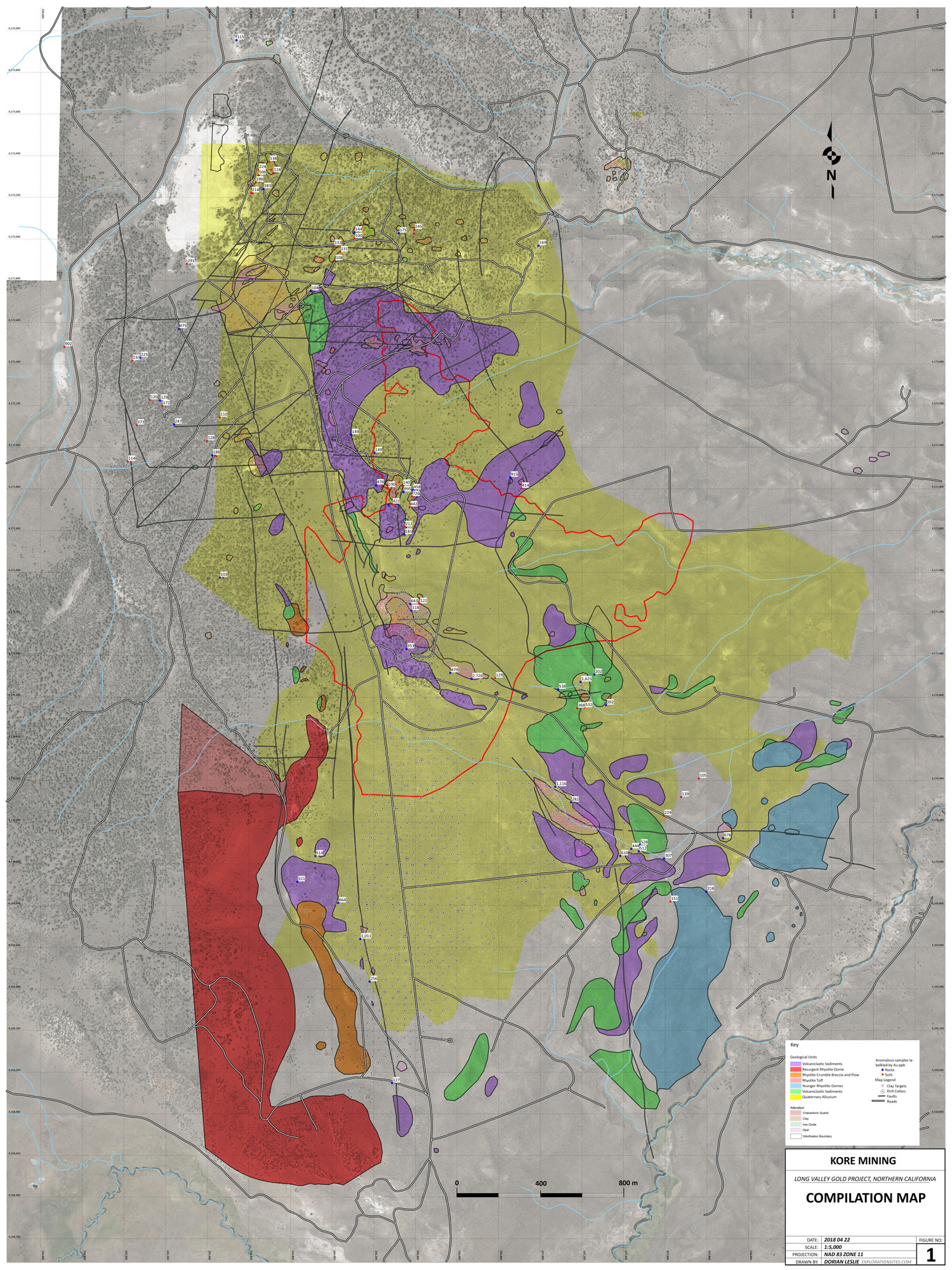 Long Valley Geology Compilation