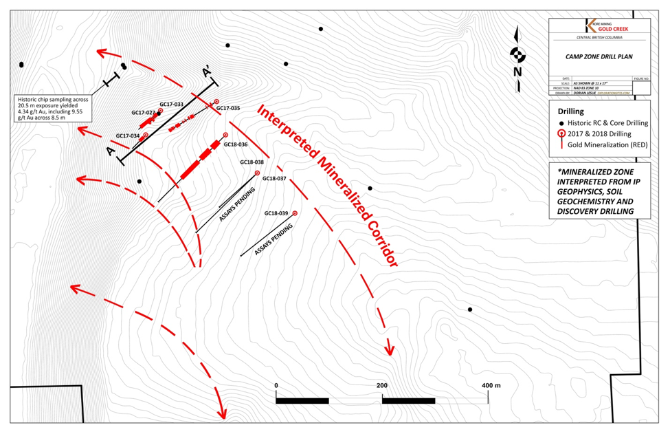 CAMP ZONE DRILL PLAN MAP