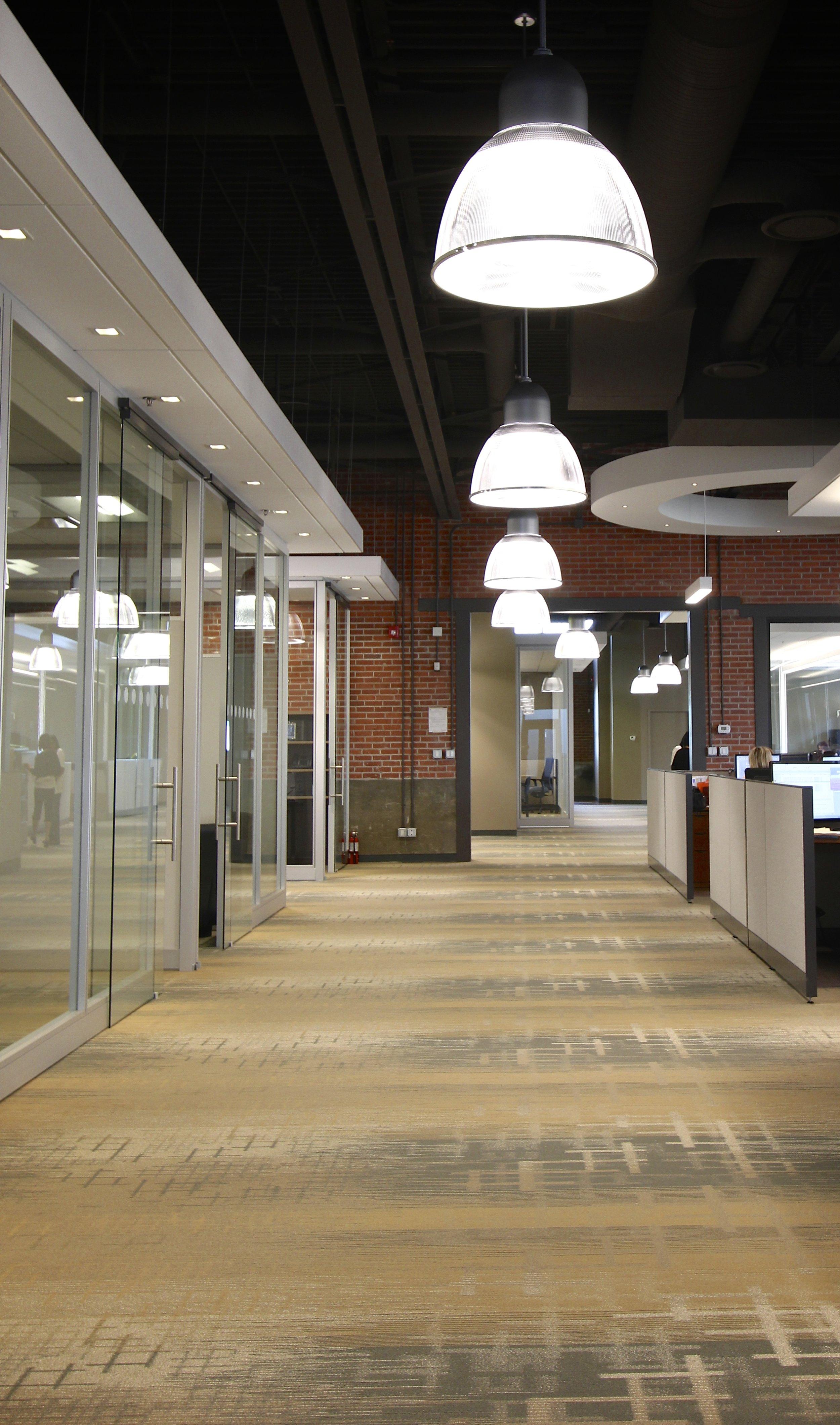 Metric Design, Interior Design, Renovations, Saskatoon, Pendant Light, Office Lighting, Office Partitions.jpg