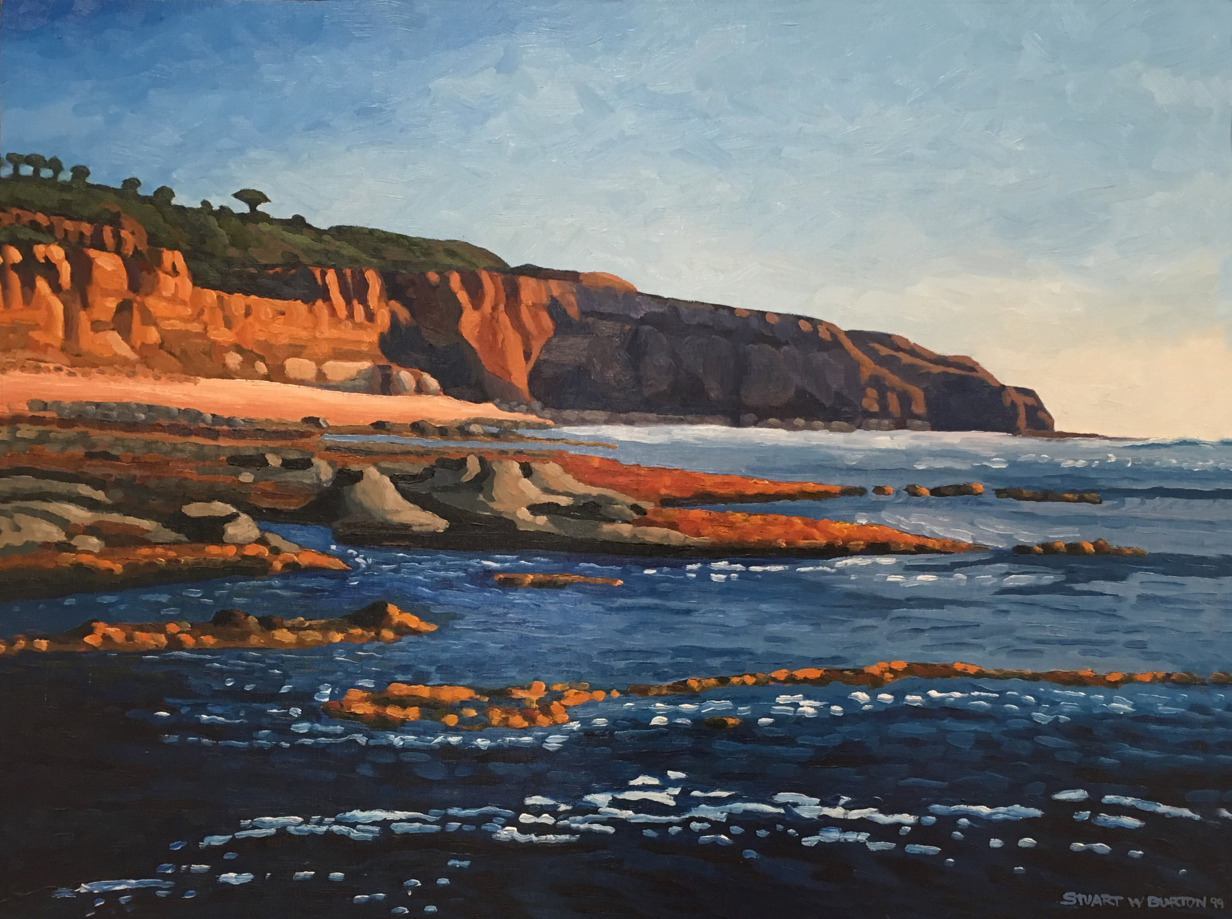 Looking South Sunset Cliffs    18x24      Oil on Panel      1999