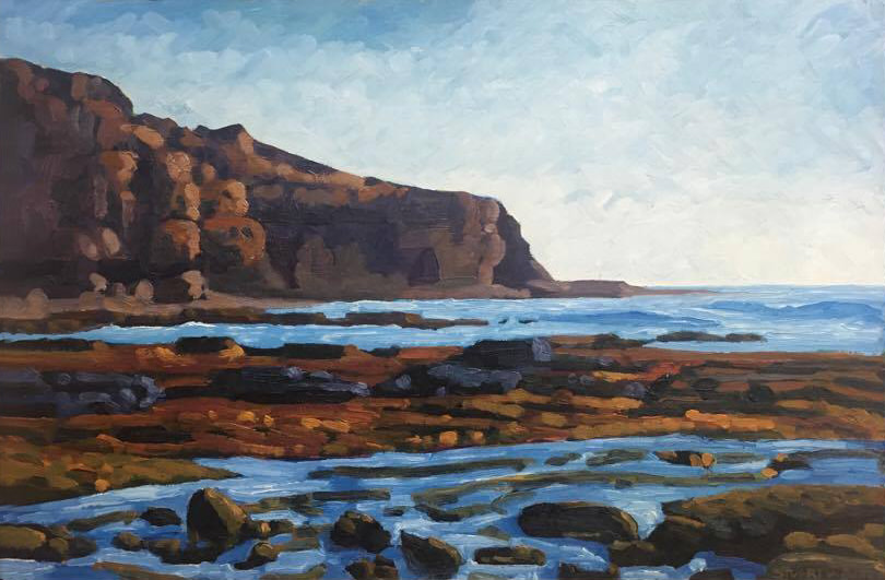 Low Tide Stream, Point Loma     16x24    Oil on Panel     2000