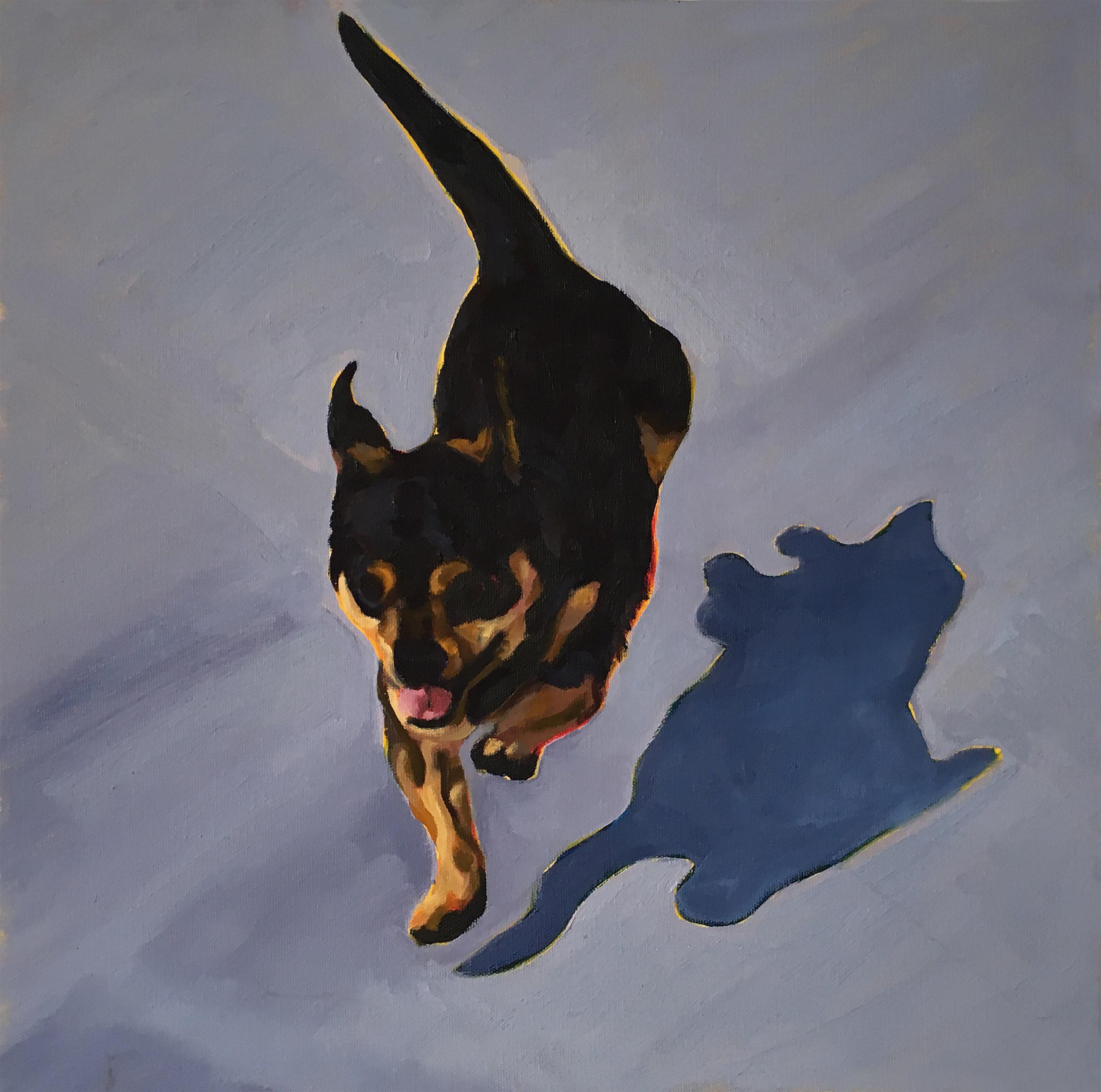 Rocket Landing  16 x 16  Oil on Canvas  2009