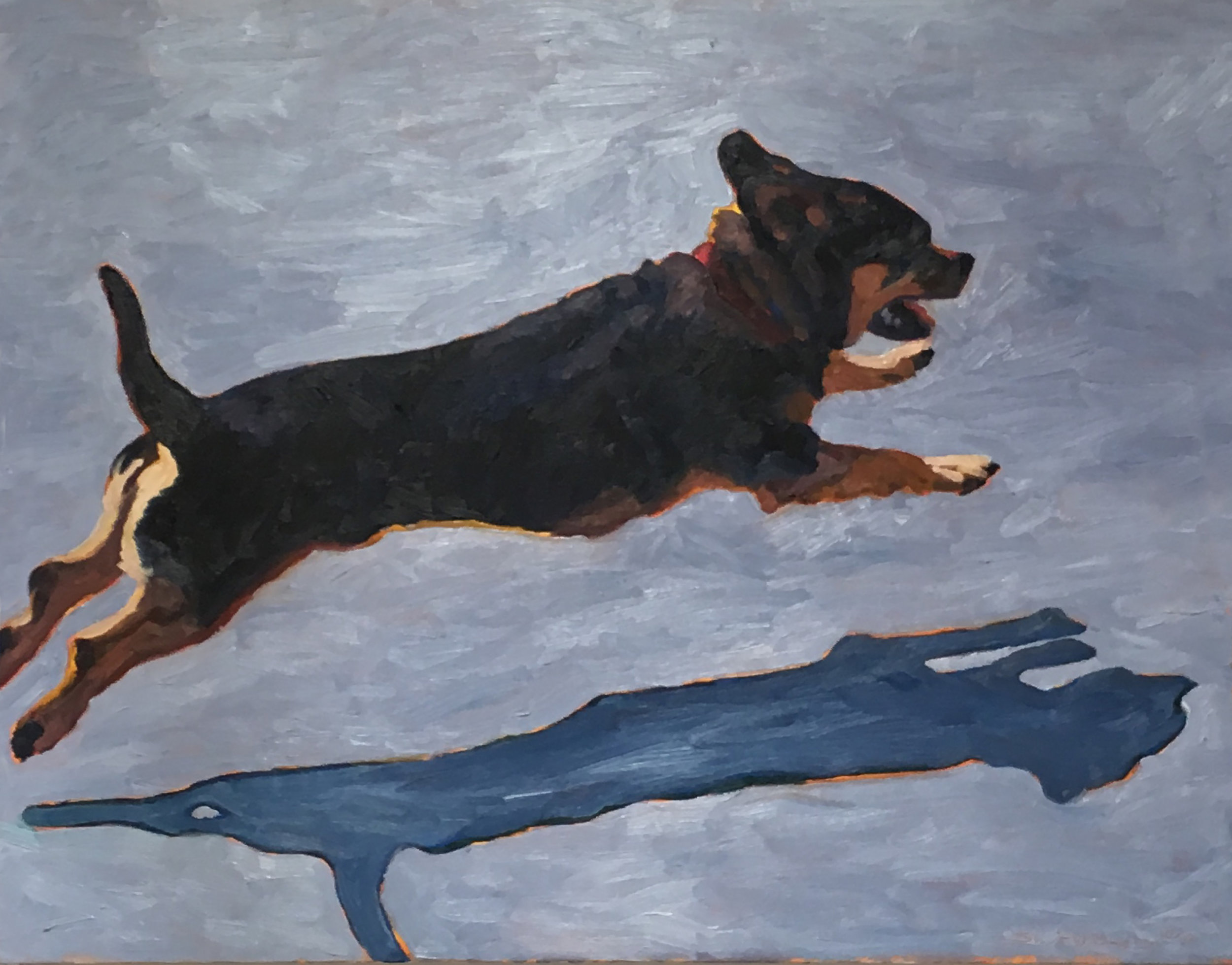 Rocket Flying  24 x 30  Oil on Canvas  2009