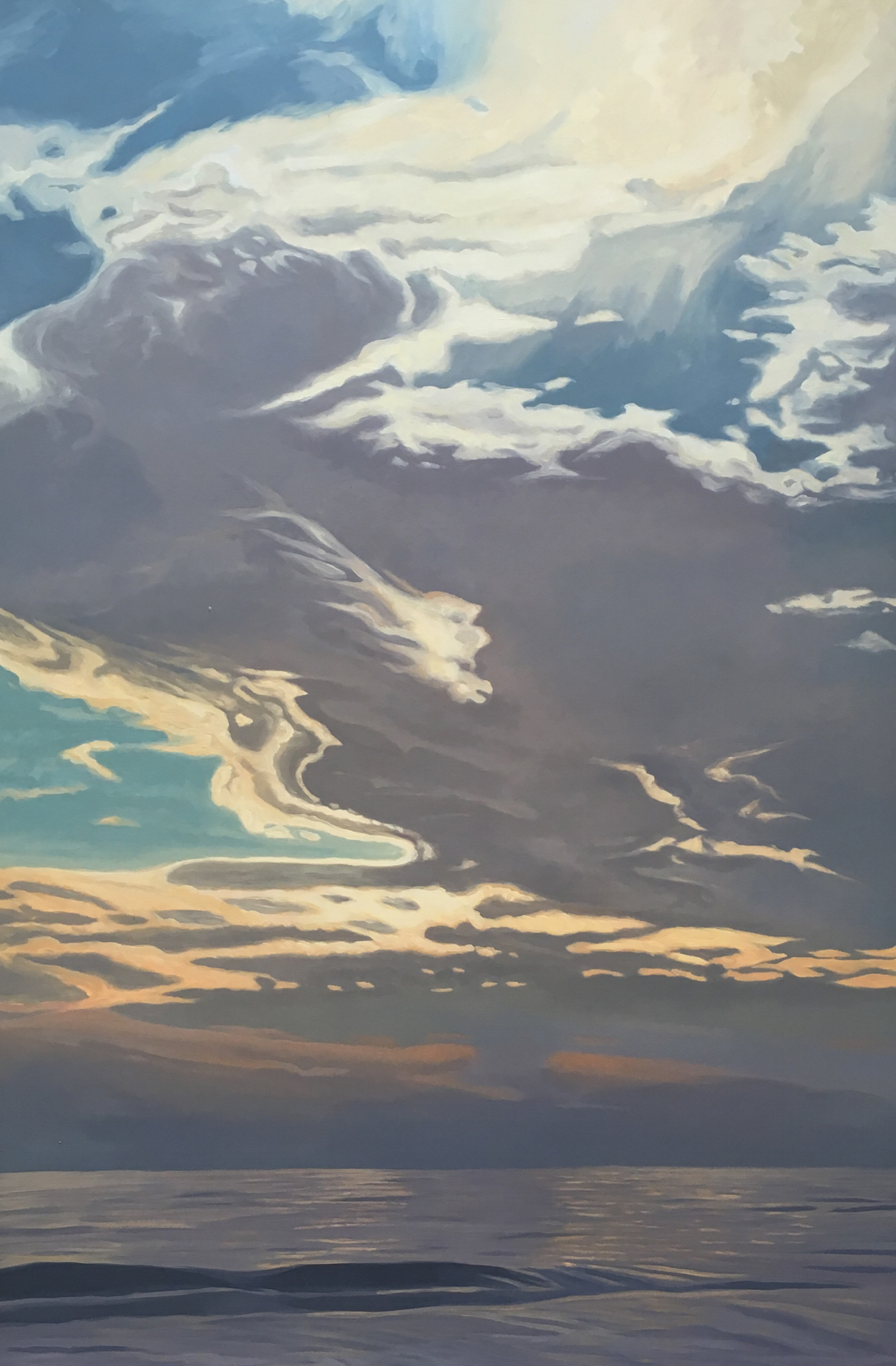 Pacific Overture I  75x52  Oil on Panel  2002
