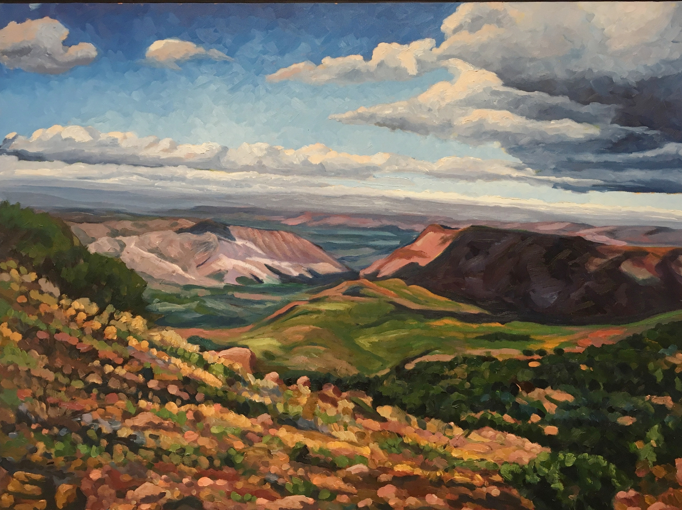Across The Valley  30x40  Oil on Canvas  2000