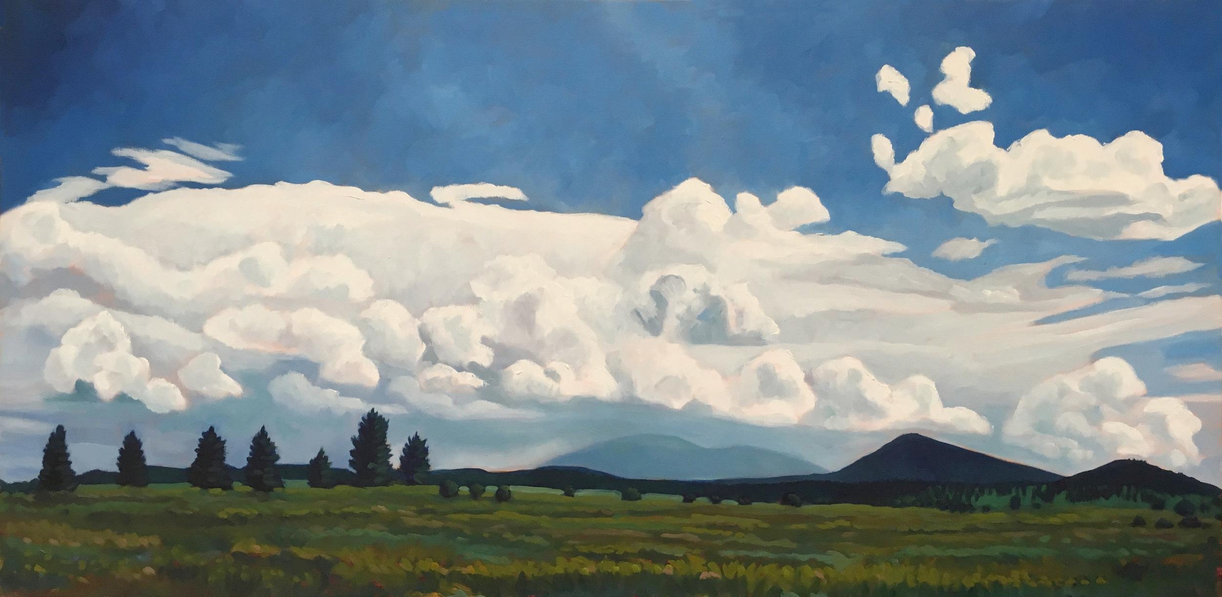 Between Rains II  18x36  Oil on Canvas
