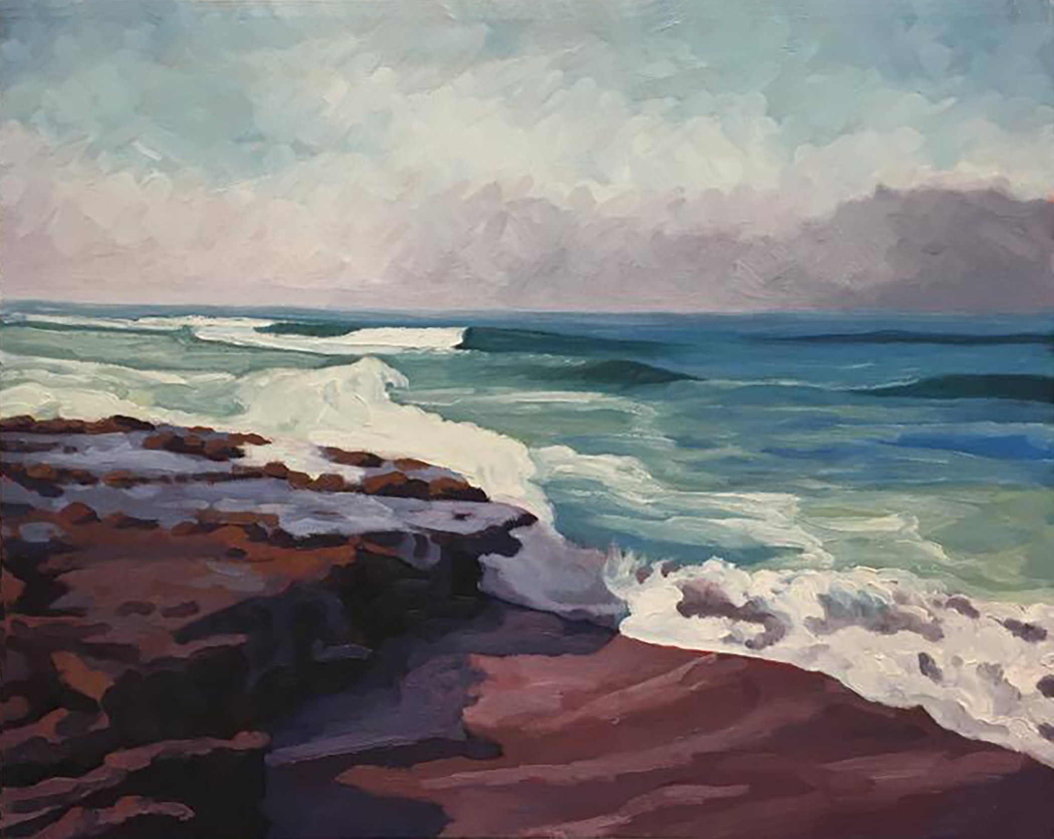 Crashing Surf      16x20      Oil on Canvas       2002