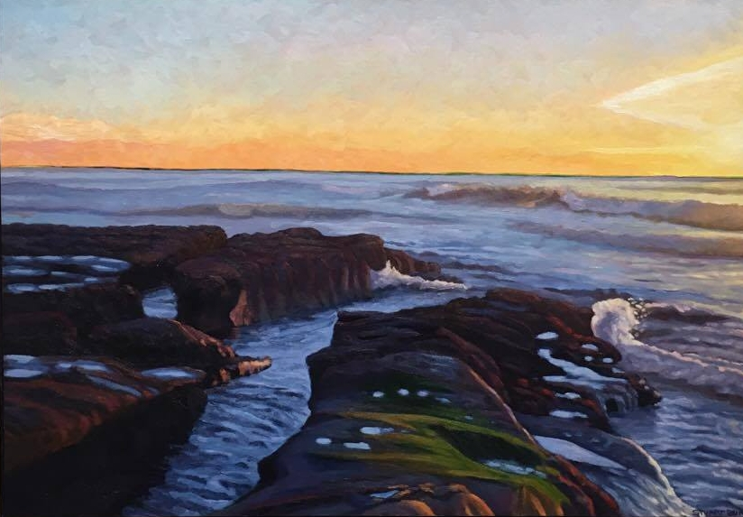 La Jolla Evening      16x26     Oil on Panel         2014