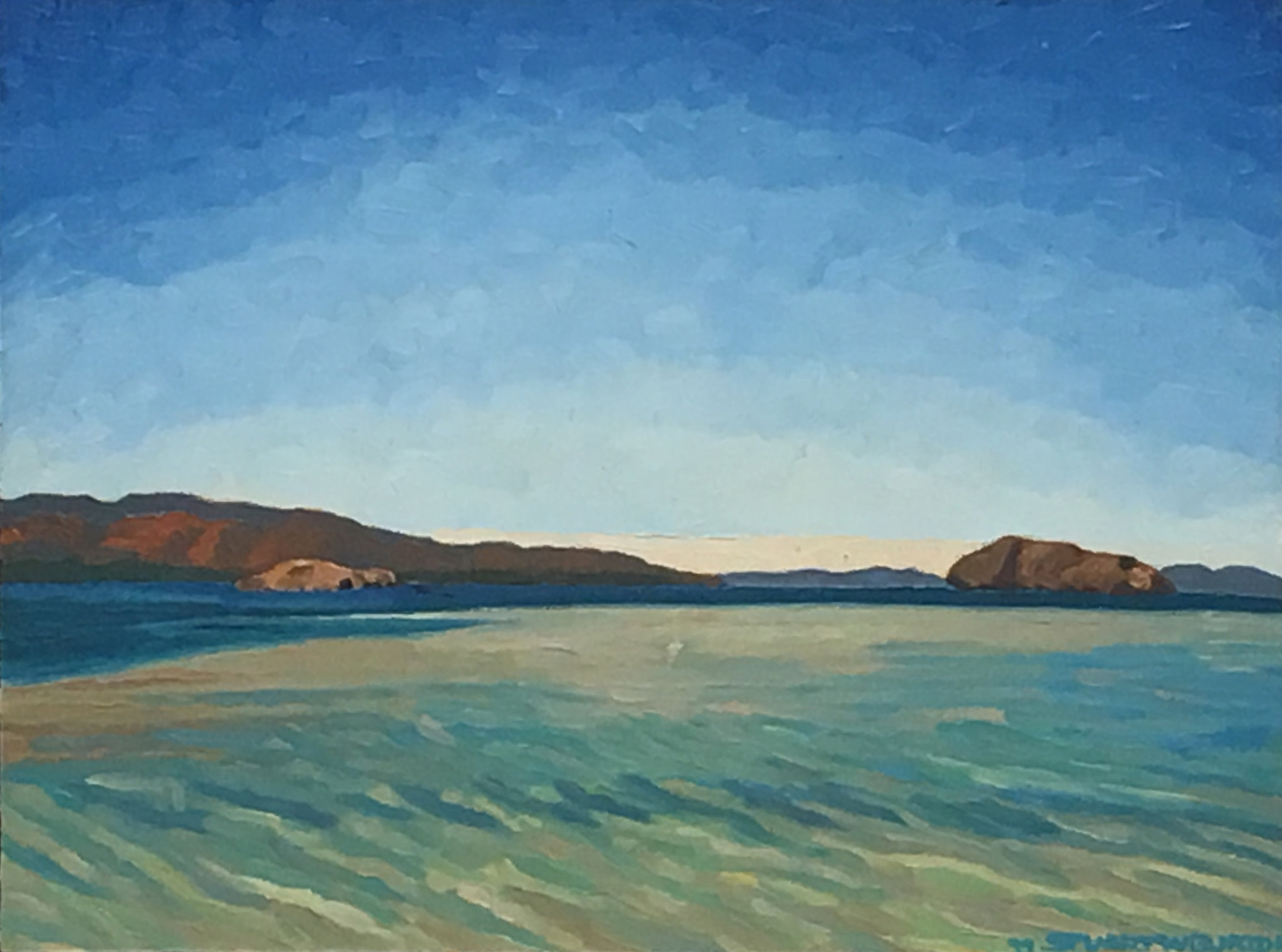 Island, Bay of Conception    12x16     Oil on Panel      1999