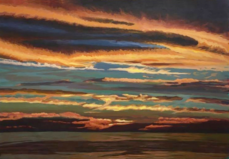 Erendira Sunset  26x38  Acrylic on Canvas  2016