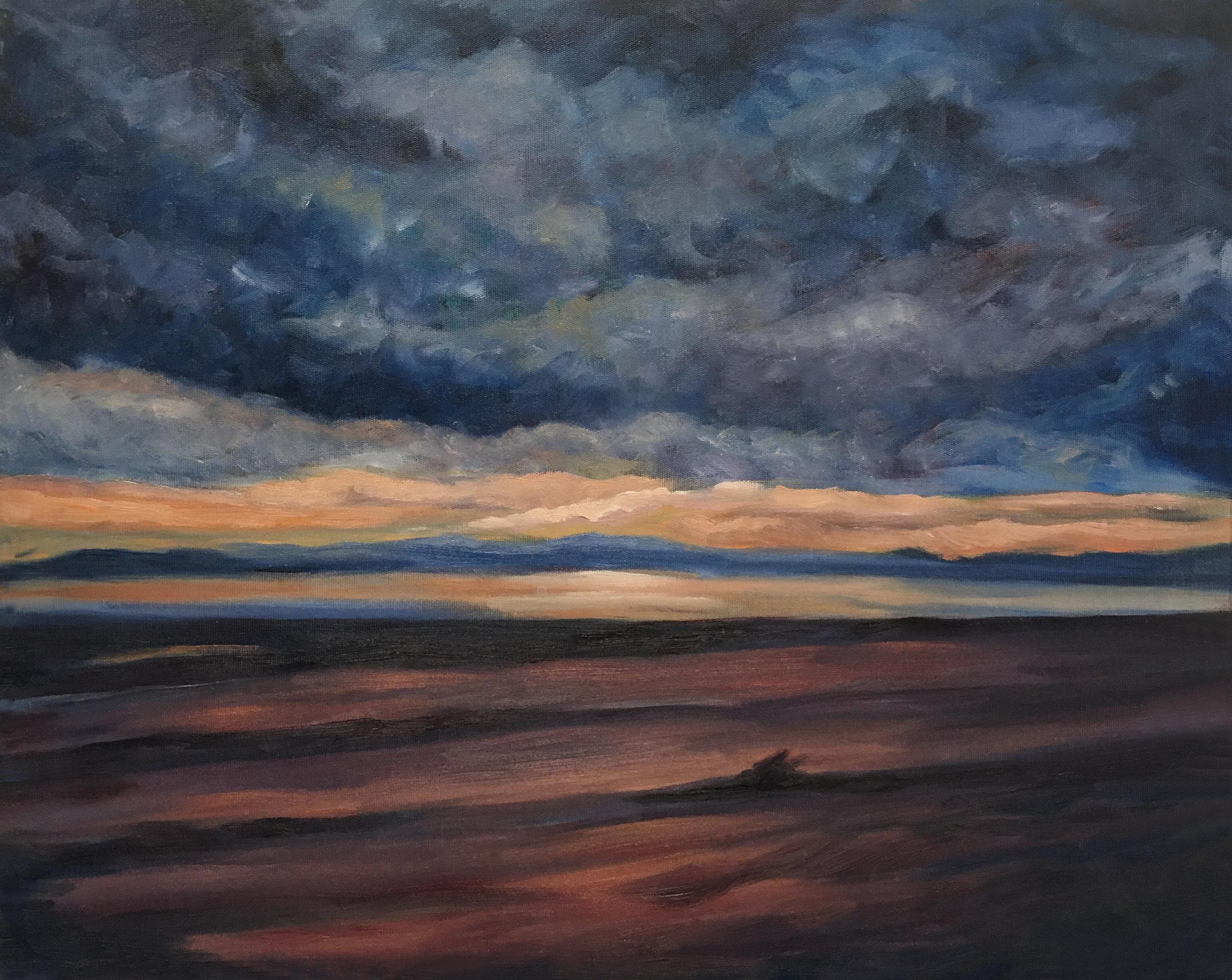 El Golfo Evening  16x20  Oil on Canvas