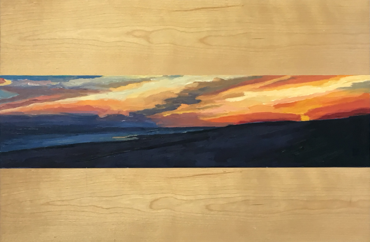 Sunset, El Golfo  9x36  Oil on Canvas  2000