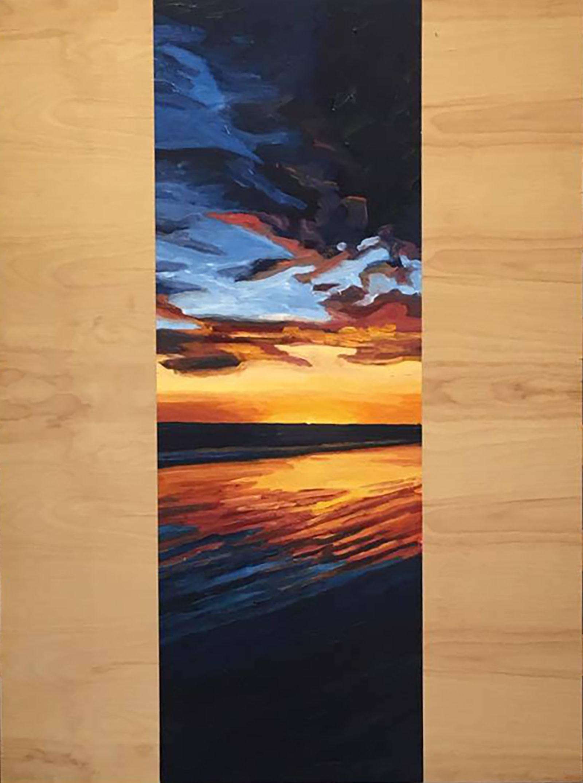 Orange Blaze  60x20  Oil on Canvas  2000