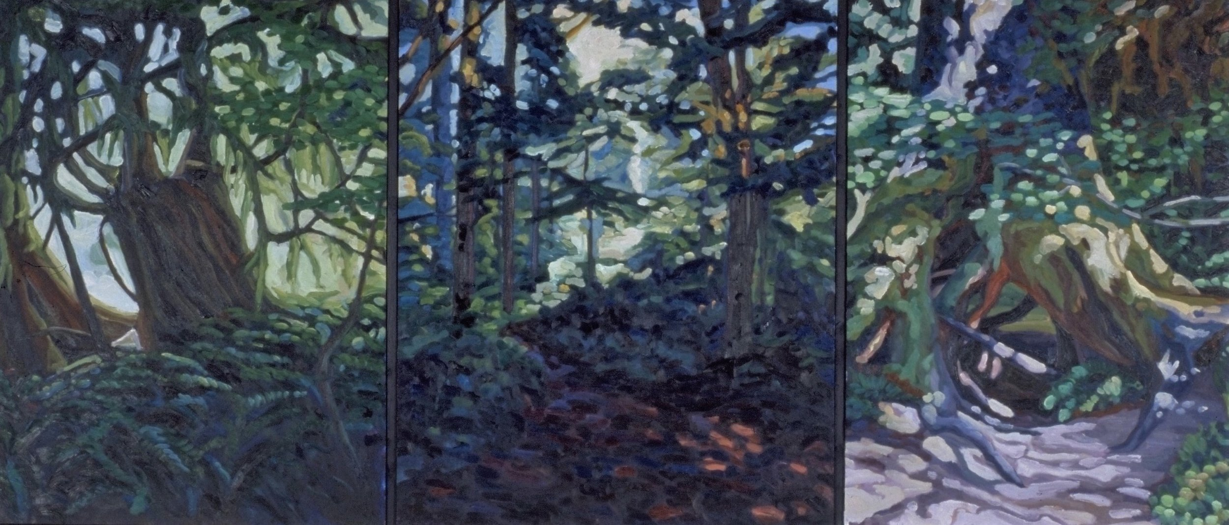 Forrest Walk  68x30  Oil on Canvas  1995