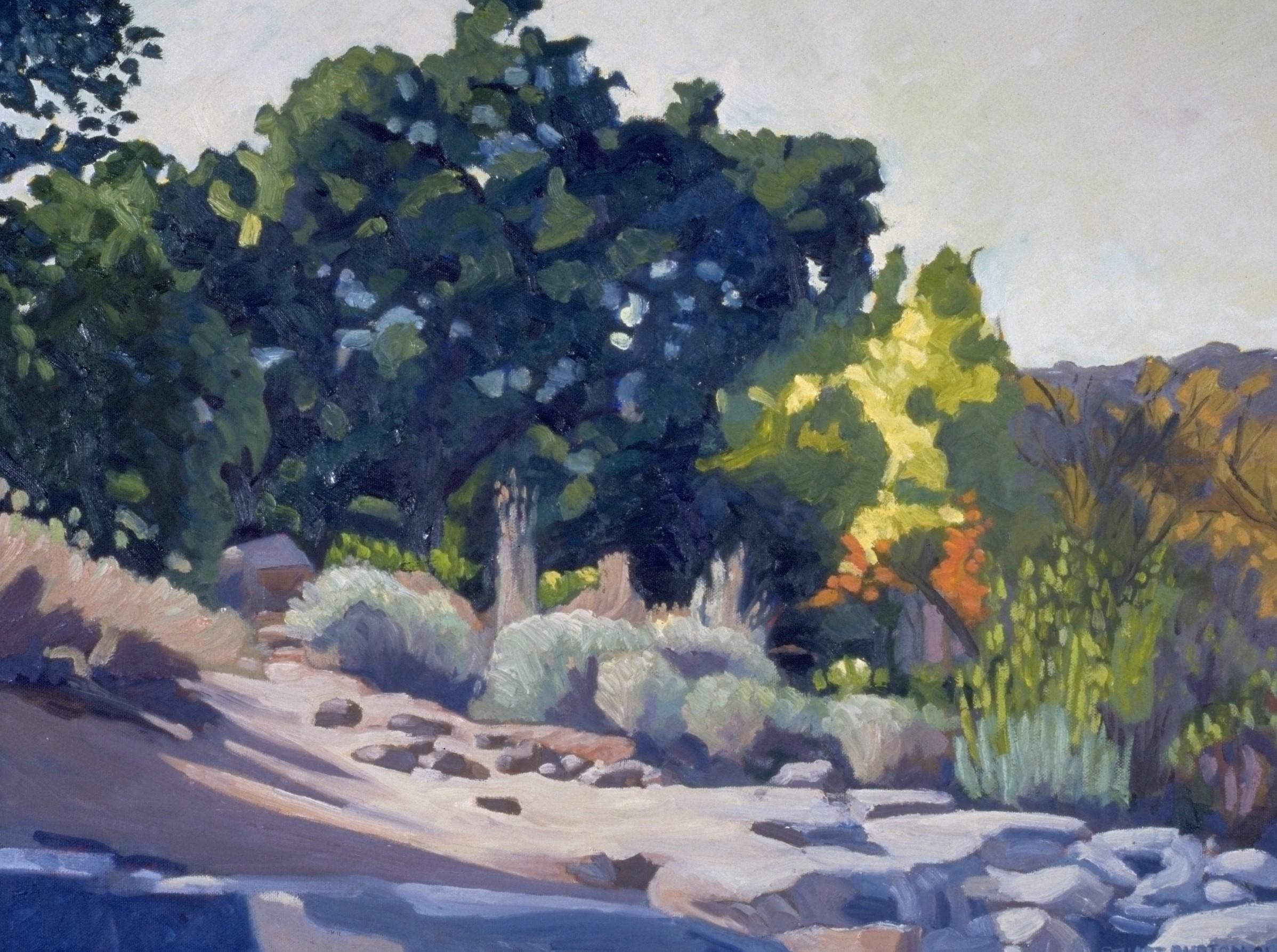 Grinding Rocks, Mission Trails Park  16x24  Oil on Panel  2000