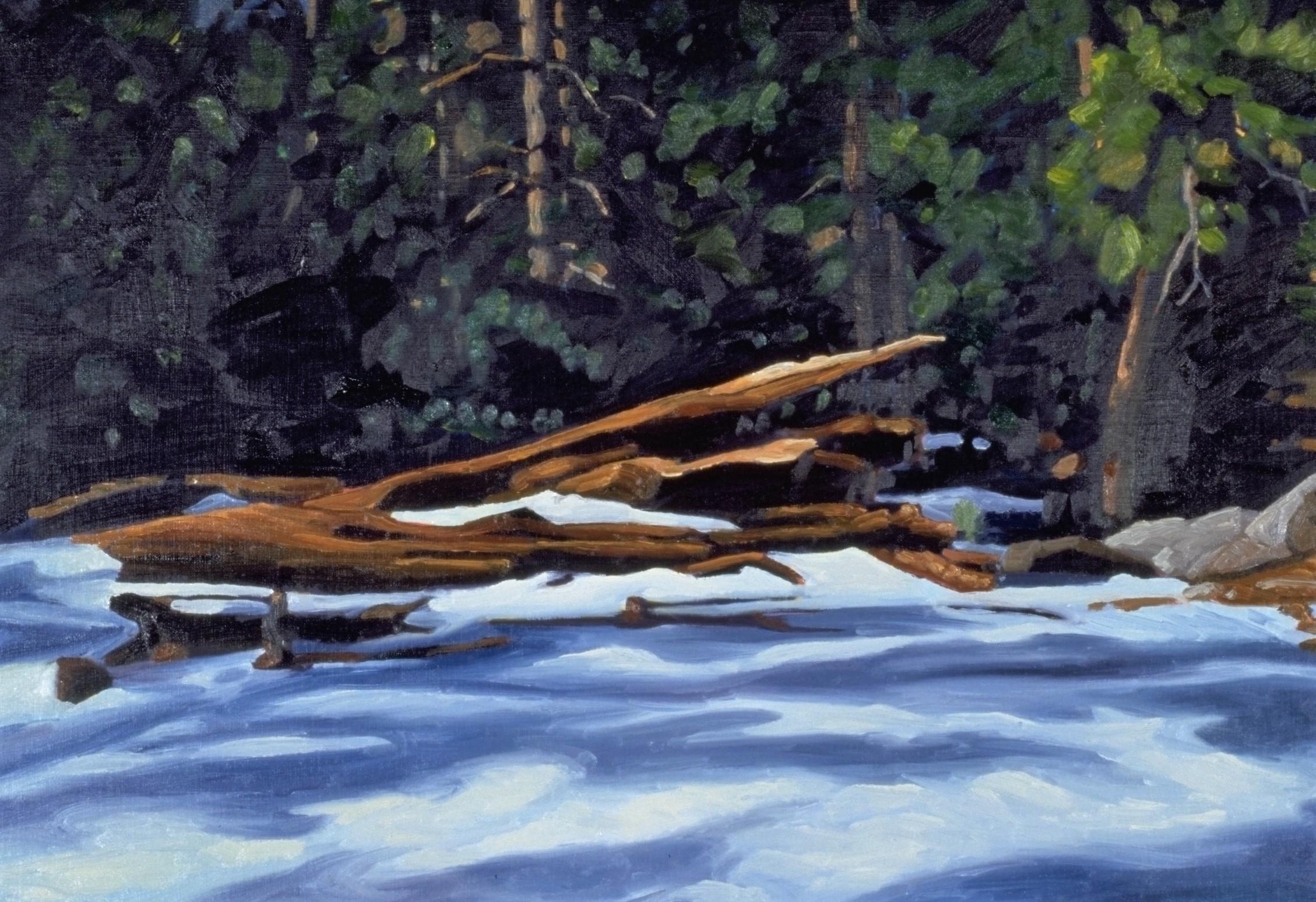 Winter Hike, Idyllwild, CA  16x20  Oil on Panel  2000