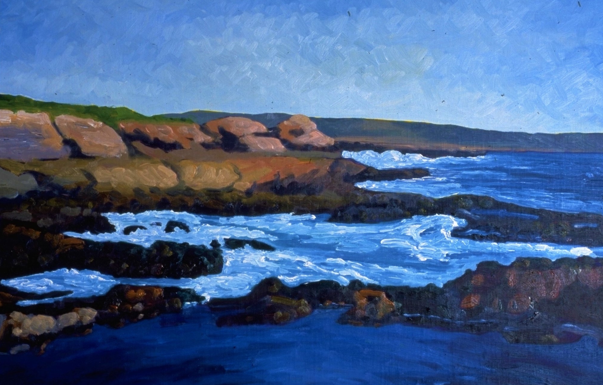 Coastal Bluff, Baja     14x20     Oil on Panel    2006