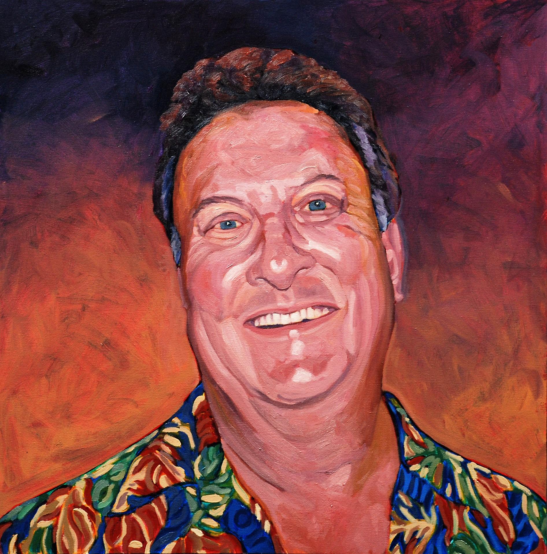 Patron (Doug Simay) 16 x 16  Oil on Canvas