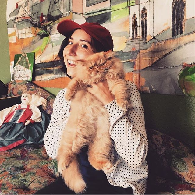 Me and one of my favorite cats (@mim_and_tut) in one of favorite sweaters in front of my favorite paintings (@sippisissy) and a creepy Civil War era doll (not my favorite). ⠀ ⠀ This isn't a new picture, but I feel it does capture my essence? ⠀ ⠀ ⠀ ⠀ ⠀ ⠀ ⠀ ⠀ ⠀ ⠀ ⠀ ⠀ ⠀ ⠀ #womeinindesign #pdxdesigners #catsofinstagram #PDXDesign #designingwomen #womeninbusiness #designer #branding #headshots