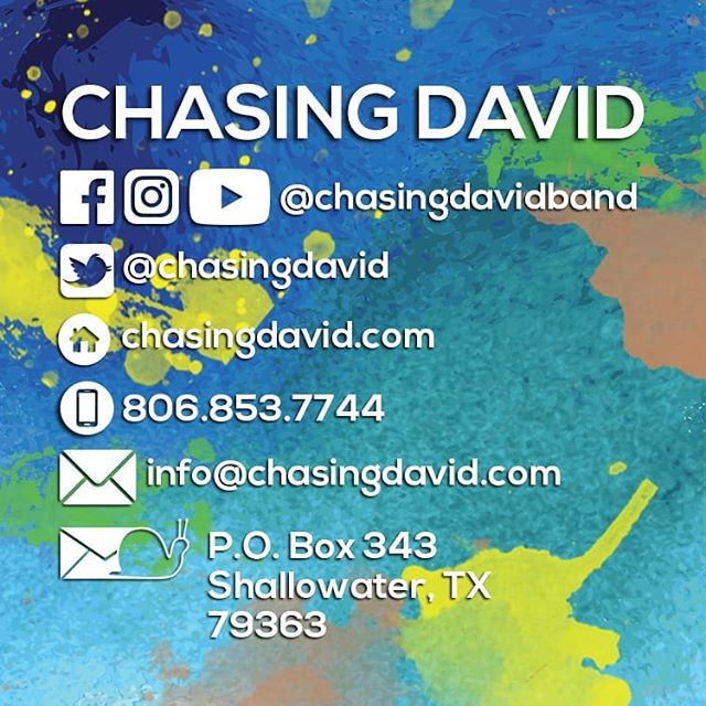 We're finally putting together a touring band for Chasing David. Exciting times. More to come...