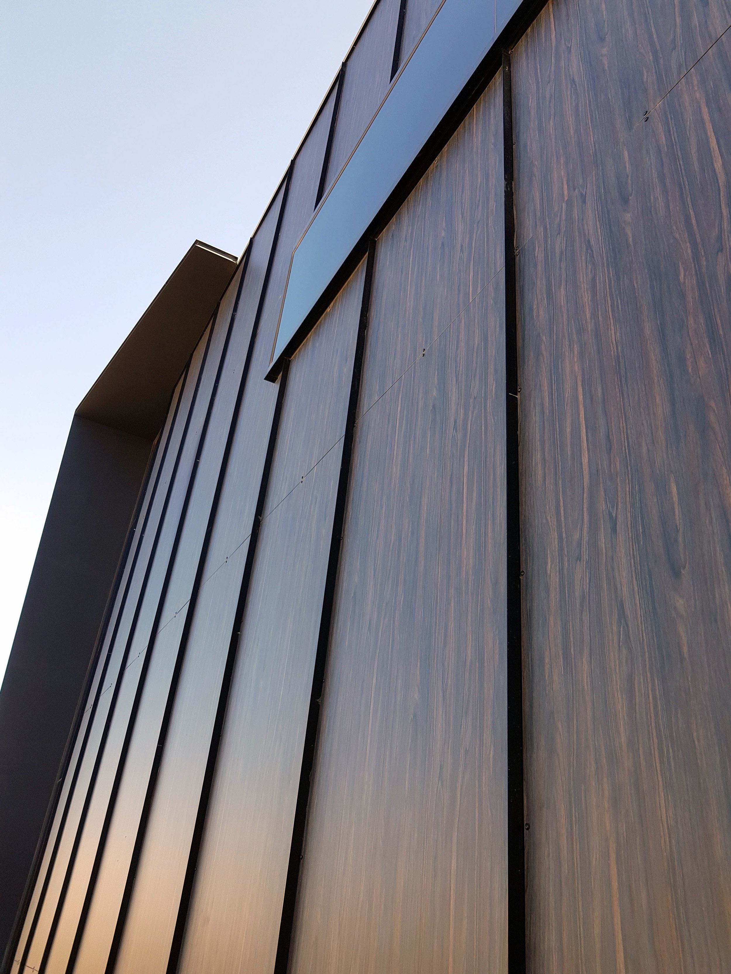 Industrial Office and Warehouse - Truganina VIC Ever Art Wood® panels - Mokuzai panel 2mm, 1000x2000 in Burrakku Eboni