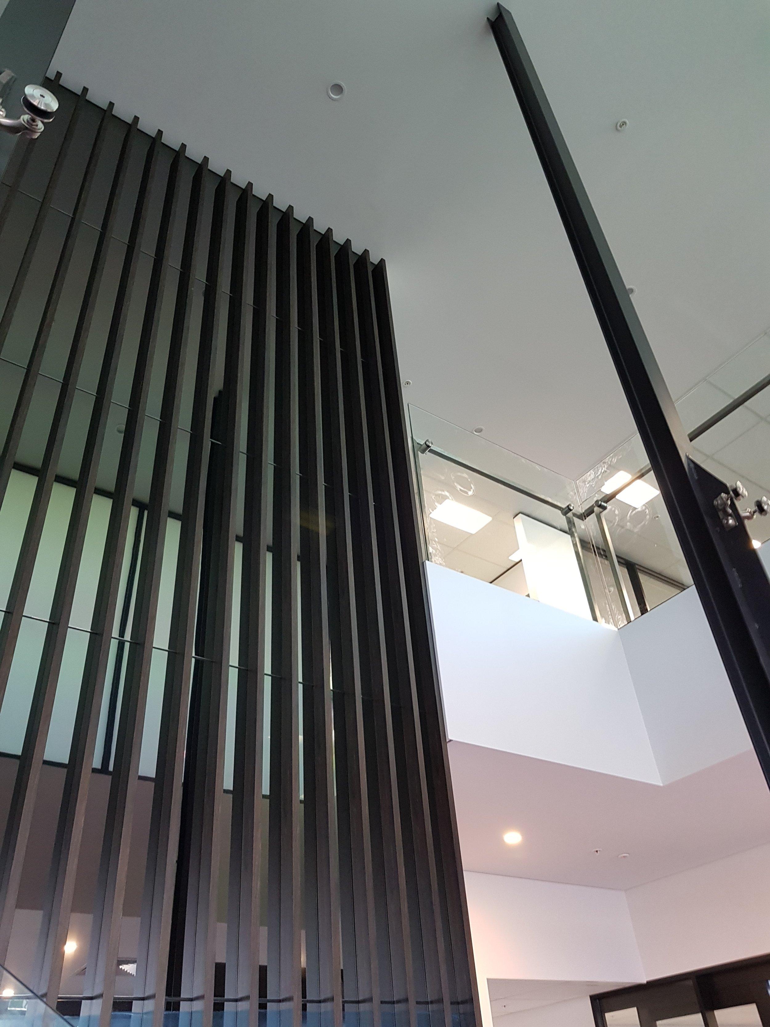 Claytons Head Office - Truganina VIC Ever Art Wood® battens - Kabebari 30x50 in Burakku Eboni