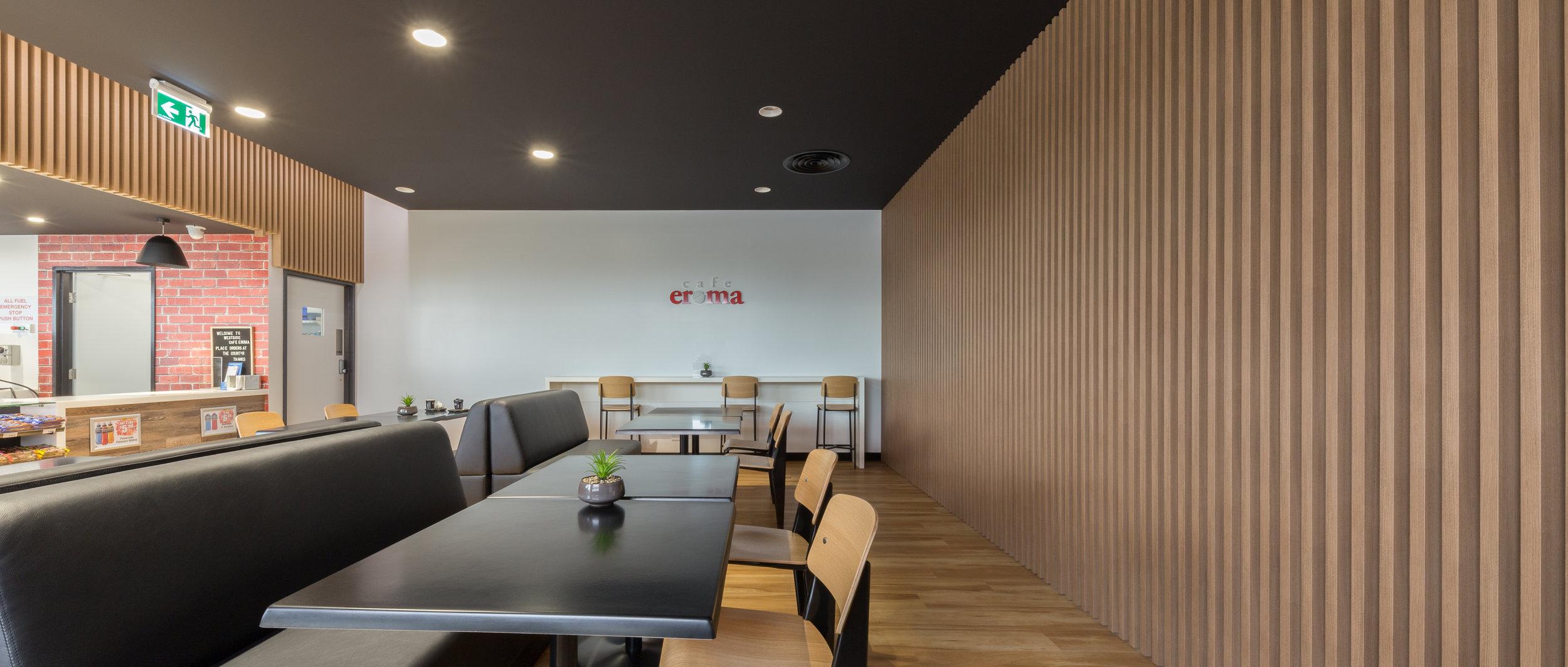 Westside Petroleum - Sebastapol VIC Ever Art Wood® battens - Kabebari 30x85 in Kuri Masame