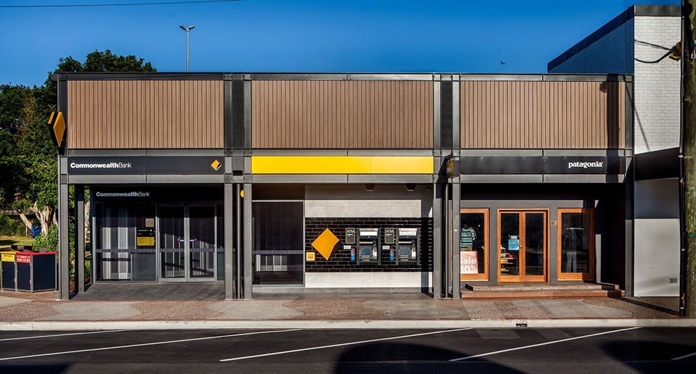 Commonwealth Bank Facade - Byron Bay NSW