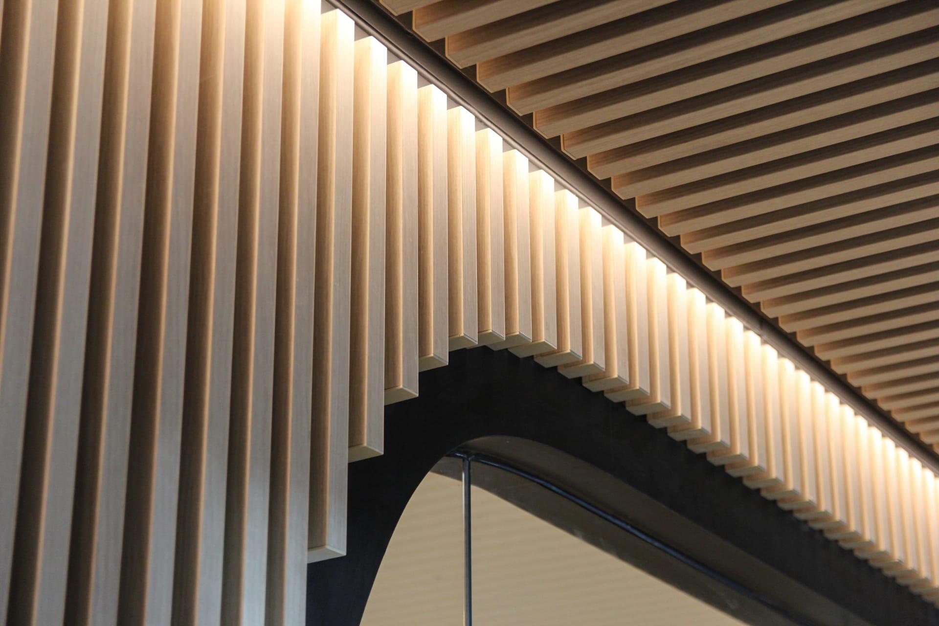883 Collins St Multi-residential Pool Amenities - Melbourne VIC Ever Art Wood® battens - Kabebari 30x50 in Supuringu Oku